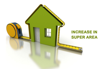 How Builders increase Super Area of the property at the time of delivery?